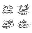 summer activity icons set