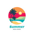 summer holiday concept business logo vector image