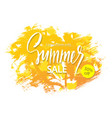 summer sale banner tropical background with palm vector image