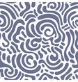 Swirly seamless pattern vector image