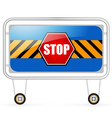 Traffic barrier stop sign on a white background vector image vector image