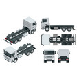 truck tractor or semi-trailer truck view front vector image