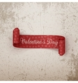 Valentines Day scroll Ribbon with Hearts Pattern vector image