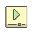 video file icon design 48x48 pixel perfect and vector image
