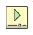 video file icon design 48x48 pixel perfect vector image
