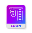 white line car gas and brake pedals icon isolated vector image vector image