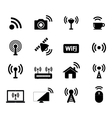 Wireless and Wifi Icon vector image vector image