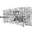 wonderful wildwood new jersey text word cloud vector image vector image