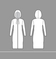 zip-up hoody dress technical fashion vector image vector image