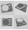 DJ turntables vector image