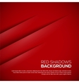 Red background with realistic shadows vector image