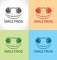 Smile frog symbol icon vector image
