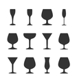 Icons wineglasses vector image