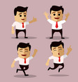set of manager or business man character vector image