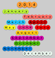 2014-Months-on-fun-circles vector image vector image