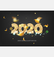 2020 new year golden banner vector image vector image