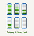battery lithium load vector image