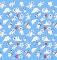 bear pattern seamless cartoon style vector image