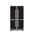 black refrigerator icon on white background vector image