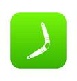 boomerang icon digital green vector image