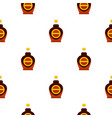 bottle of maple syrup pattern seamless vector image vector image