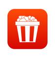 box of popcorn icon digital red vector image vector image
