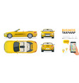 cabrio car taxi transfer flat high quality city vector image vector image