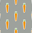 carrot pattern Seamless texture with ripe carrots vector image vector image