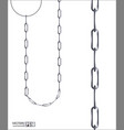 collection of seamless metal chains colored silver vector image