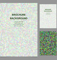 Colored abstract square mosaic brochure design vector image vector image