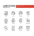 Contact Us - line design icons set vector image vector image