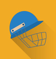 Cricket game flat icon vector image