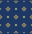 dark blue background with beautiful golg ornament vector image vector image