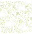 easter egg bunny seamless pattern floral holiday vector image vector image