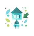 eco house contemporary energy efficient building vector image