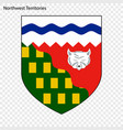 emblem of northwest territories province of canada vector image vector image