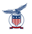 emblems with eagles and usa flags design element vector image vector image