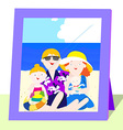 Family photo in summer vector image vector image