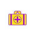 flat of ambulance suitcase icon vector image