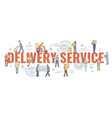flat style couriers holding loading or carrying vector image vector image