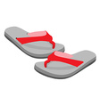Flip flop pair vector image vector image