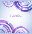 futuristic virtual technology background vector image vector image