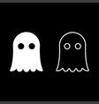 ghost icon set white color flat style simple image vector image vector image