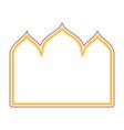 gold arabic frame vector image vector image