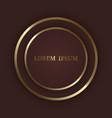 gold shiny circle frame on dark luxury background vector image vector image