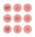 handmade and sewing badges set vector image vector image