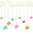 hanging balls vector image