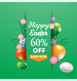 happy easter super sale banner background vector image vector image