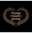 Happy thanksgiving day icon vector image