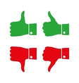 Icons thumbs up and down vector image